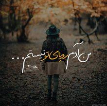 عکس نوشته غمگین من آدم رویای تو نیستم از اشوان برای پروفایل