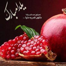 عکس نوشته عمرتون صد شب یلدا دلتون قد یه دنیا